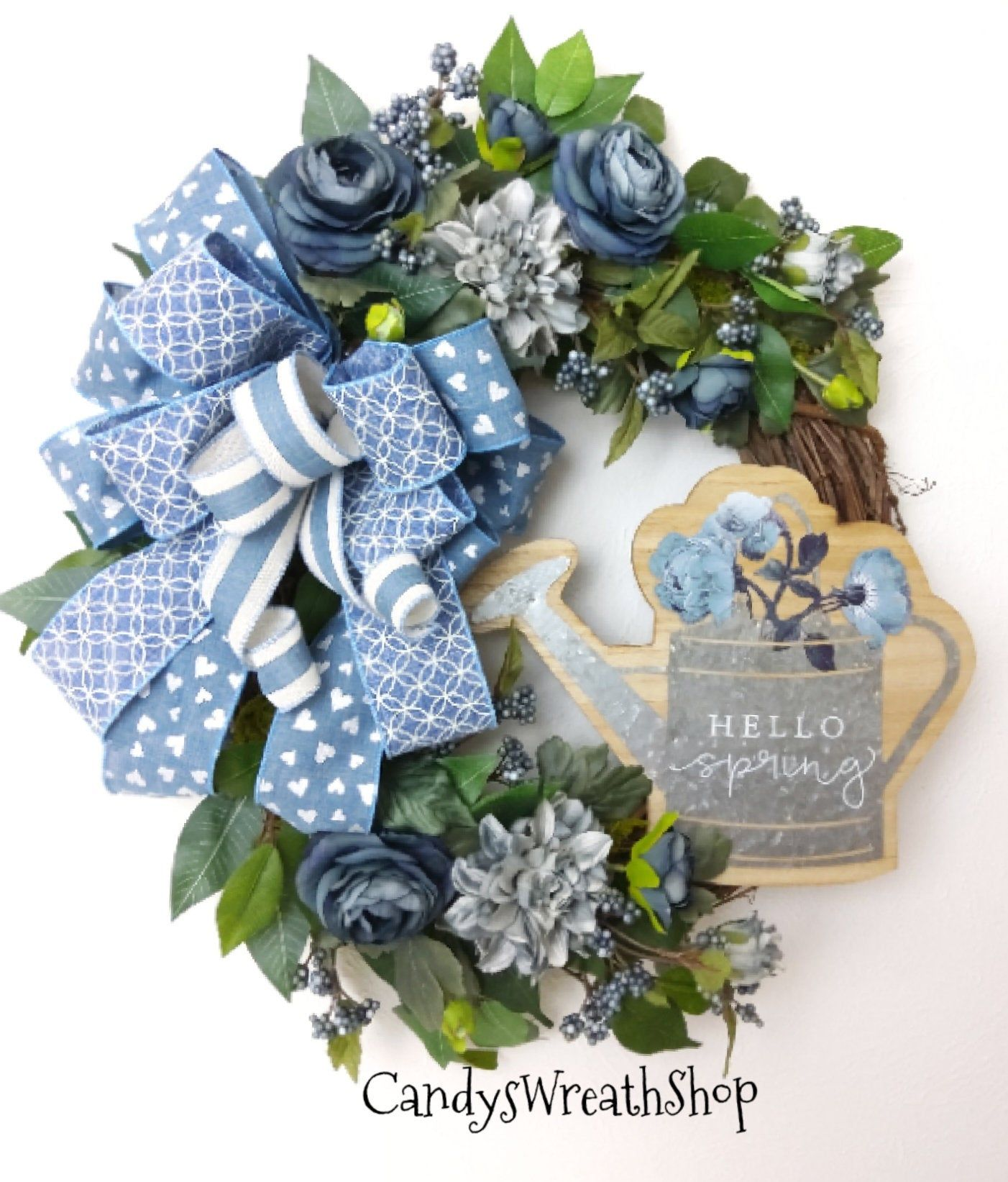 Photo of Spring wreath, welcome wreath, everyday wreath, flower wreath, peasant wreath, flower vine, wine wreath, spring flower vine