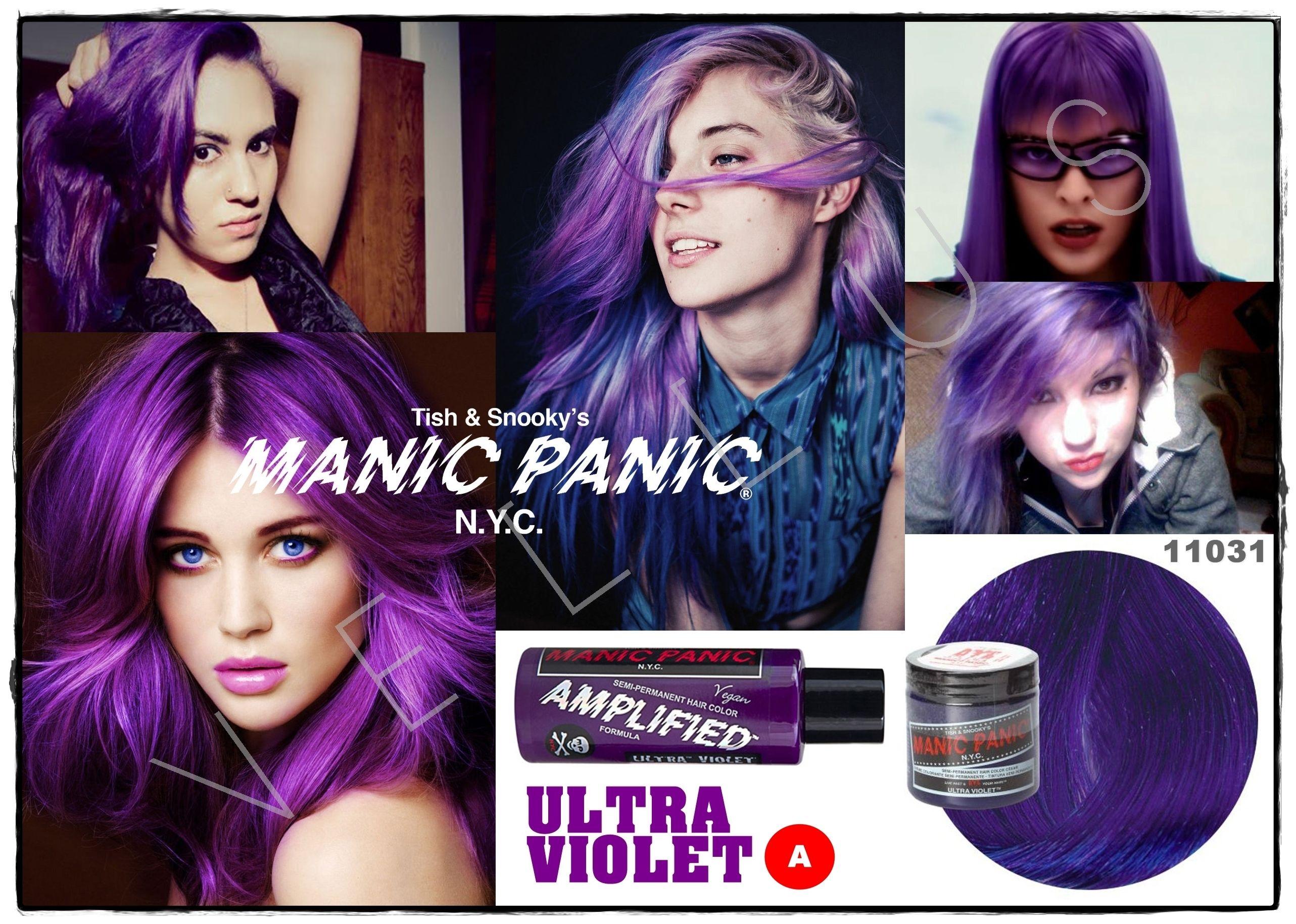 Manic Panic Amplified Ultra Violet Vellus Hair Studio 83a Tanjong Pagar Road S 088504 Tel 62246566 Manic Panic Hair Dye Lilac Hair Hair Studio