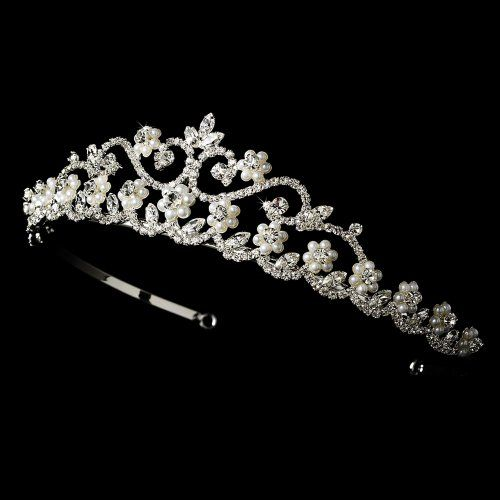 Breena Rhinestone  Pearl Wedding Bridal Tiara Headband * You can find out more details at the link of the image.