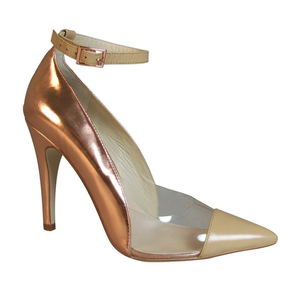 Wittner Tailo Pump in Camel/Rose Gold