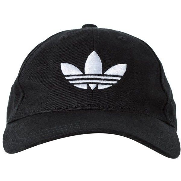 adidas Originals Cap black/white ❤ liked on Polyvore featuring accessories, hats, adidas originals hat, black and white cap, caps hats, white and black hat and black white hat