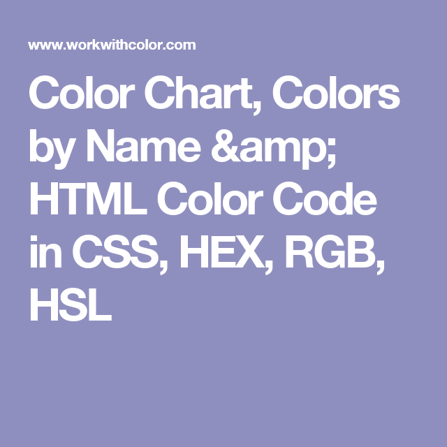 Color Chart Colors By Name  Html Color Code In Css Hex Rgb