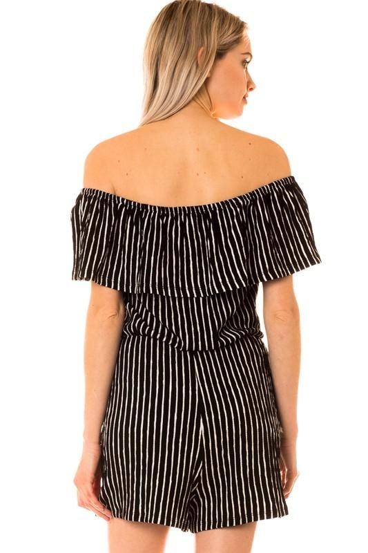 2adbc263a74 Willow Striped Off the Shoulder Romper Jess Lea Boutique  jesslea   jessleaboutique  summeroutfit  summerstyle  romper