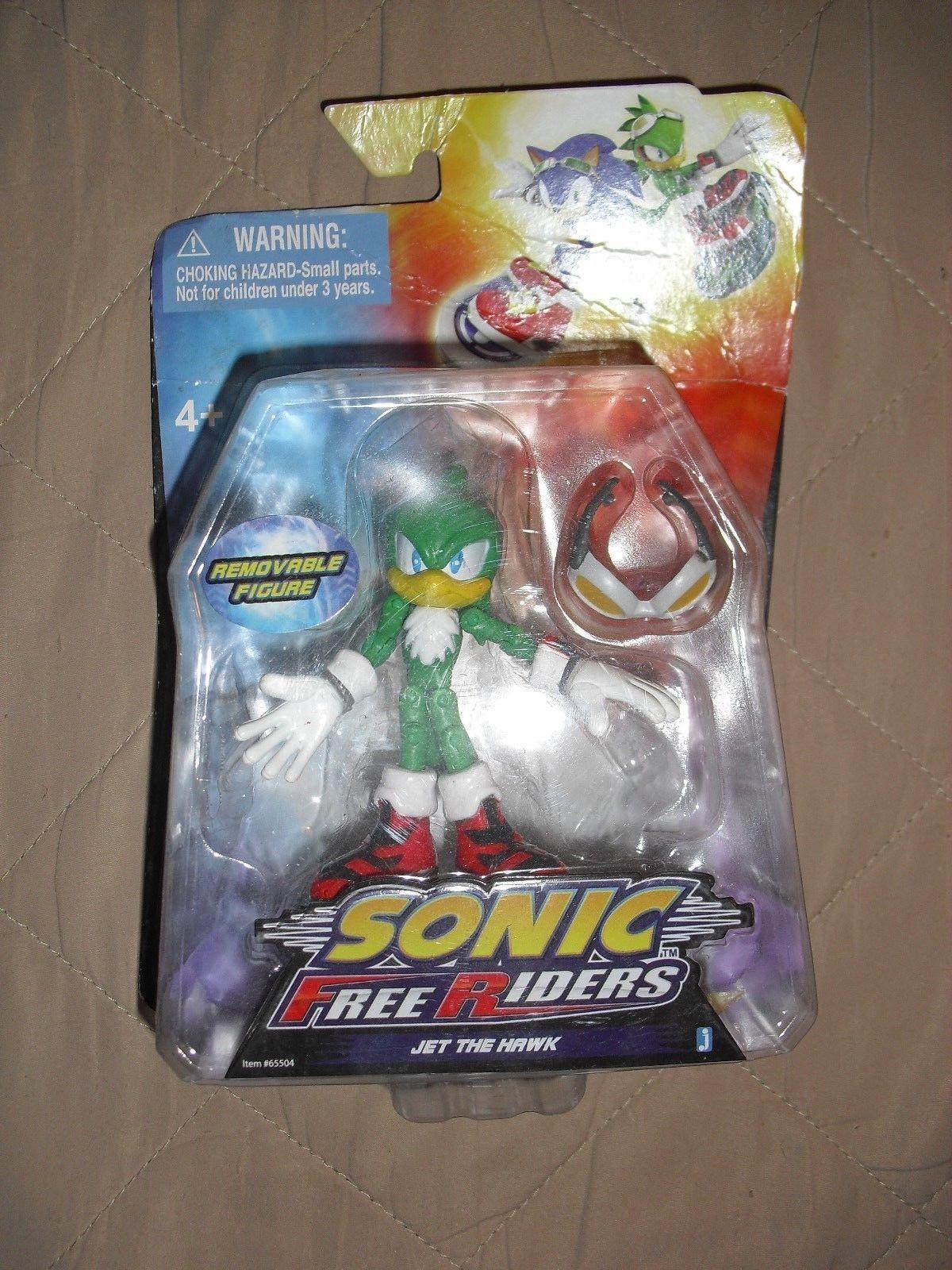 117 59 Jet The Hawk Sonic Free Riders Jazwares Toy Figure Nib Sonic The Hedgehog Hawk Sonic Free Riders J Brinquedo Do Sonic Brinquedos Personagens