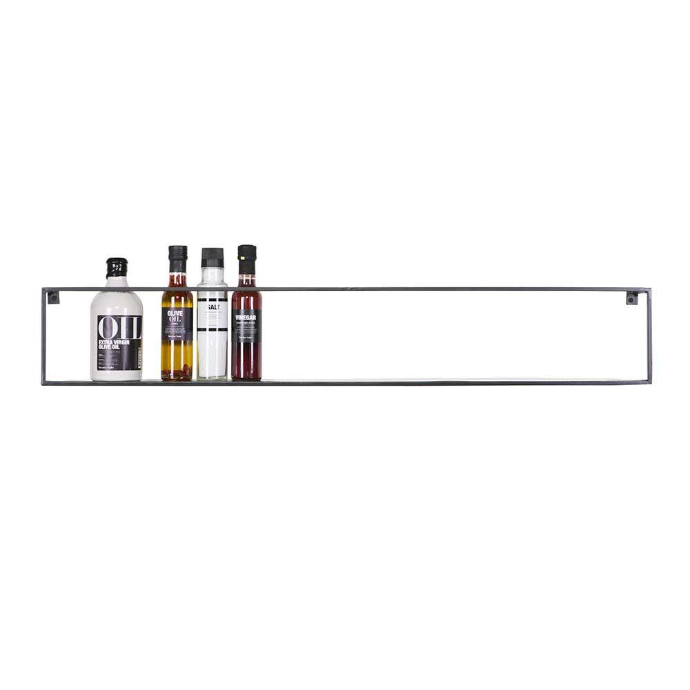 Küche Hängeregal Set in Schwarz Metall (2er Set) Jetzt bestellen ...