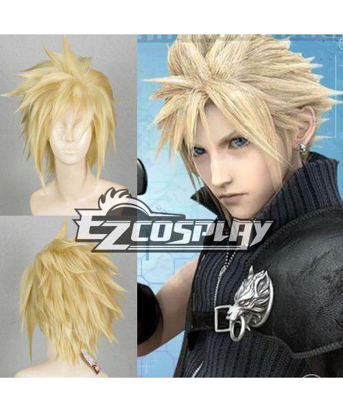 Final Fantasy Vii Ff7 Cloud Strife Yellow Cosplay Wig Cosplay Wigs Cloud Strife Cosplay Wigs