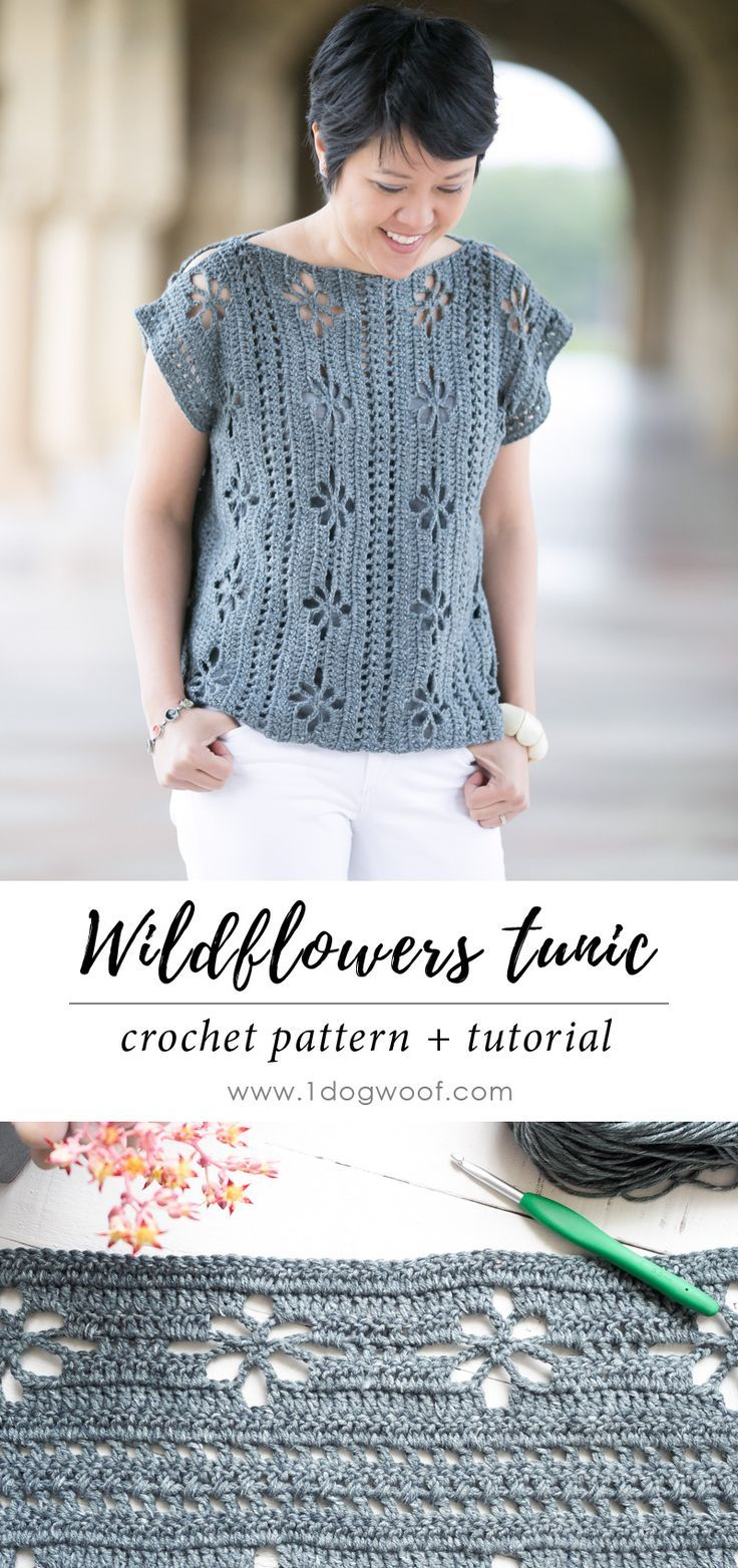 Wildflowers Tunic Crochet Pattern | tejidos | Pinterest | Blusas ...