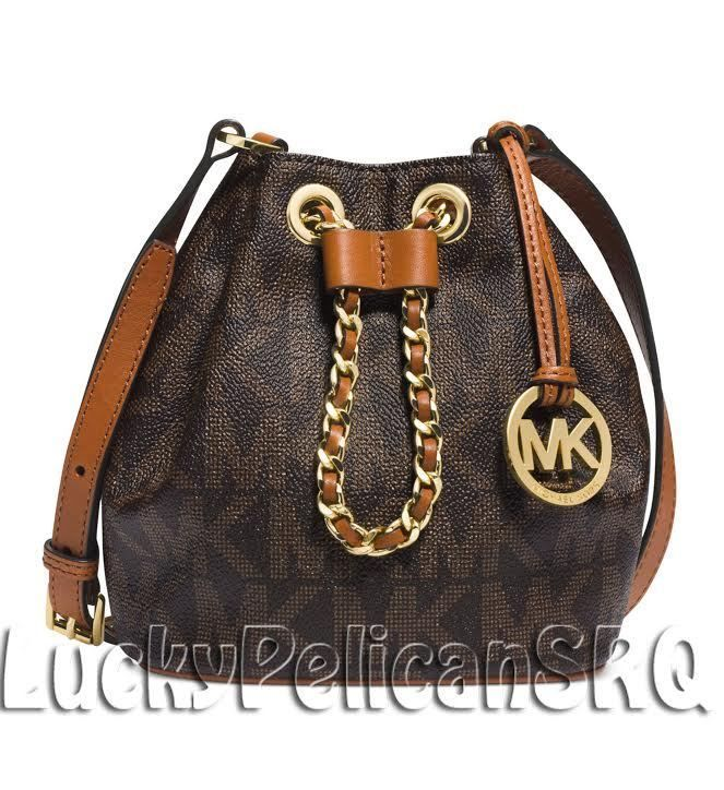 michael kors frankie mk signature drawstring crossbody messenger bag rh pinterest com