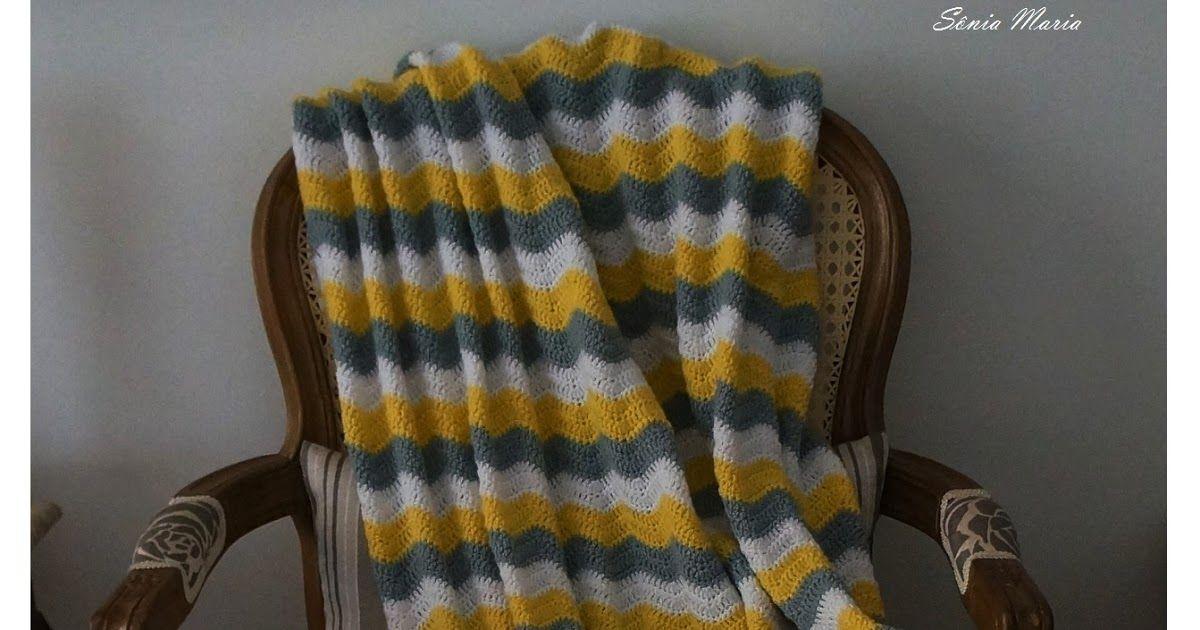 MANTA EM CROCHE ZIG-ZAG PARA BEBE (crochet ripple blanket pattern ...