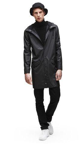 Long Jacket - Black - RAINS | Rainwear | Modern Danish Design - 1 ...