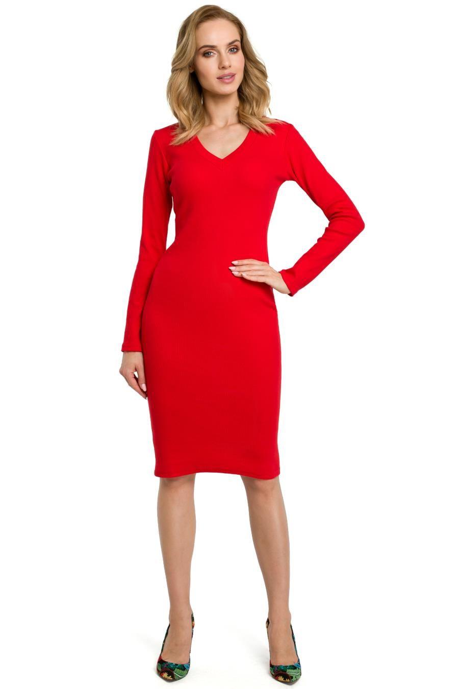 e527e635 Dopasowana Sukienka Czerwona MO393   Sukienka, Sukienki, Dresses ...