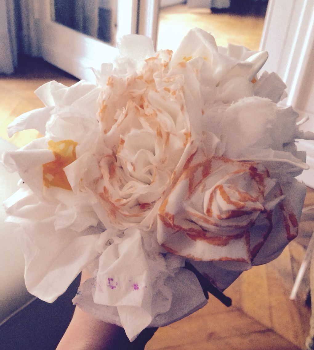 Homemade Paper Flowers Bouquet With My Little Partner