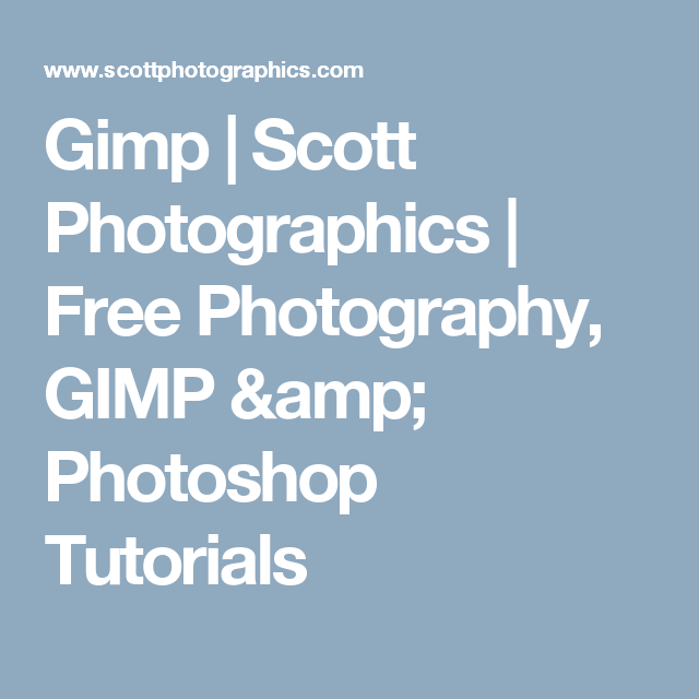 Free Photography, GIMP