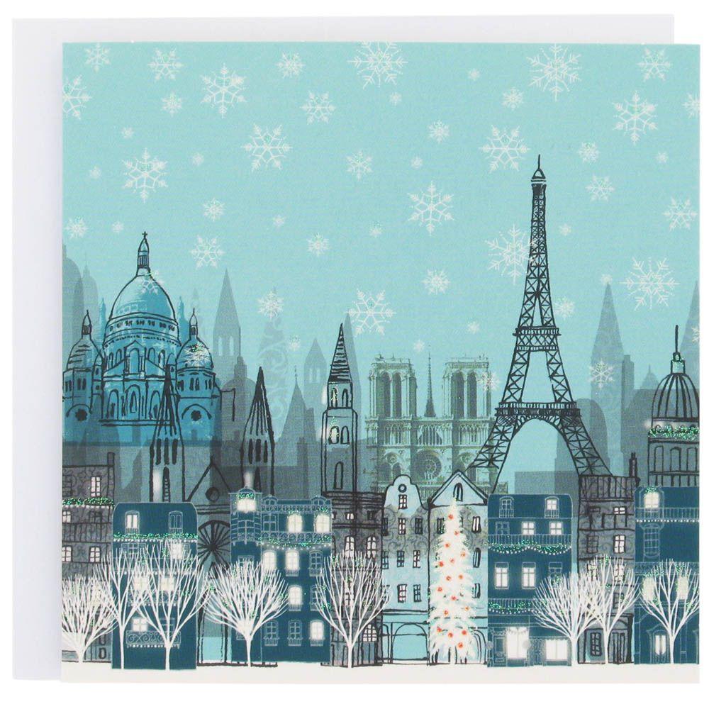 Paris Christmas card from Paperchase | paris | Pinterest | Paris ...