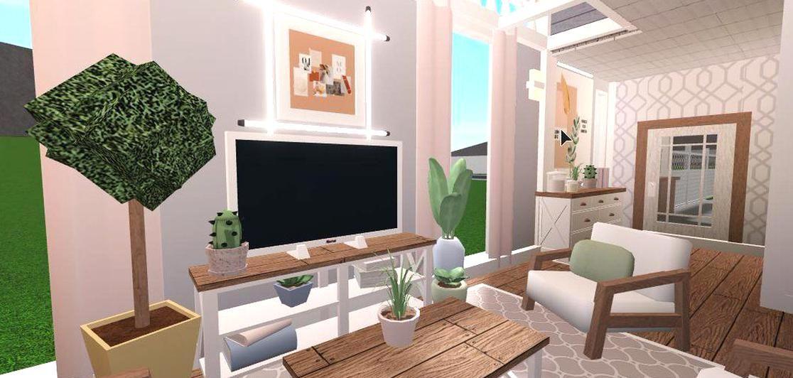 Hxsna On Twitter Living Bloxburg Bloxburgbuild Roblox In 2020 Luxury Living Room Design Tiny House Bedroom Cute Living Room