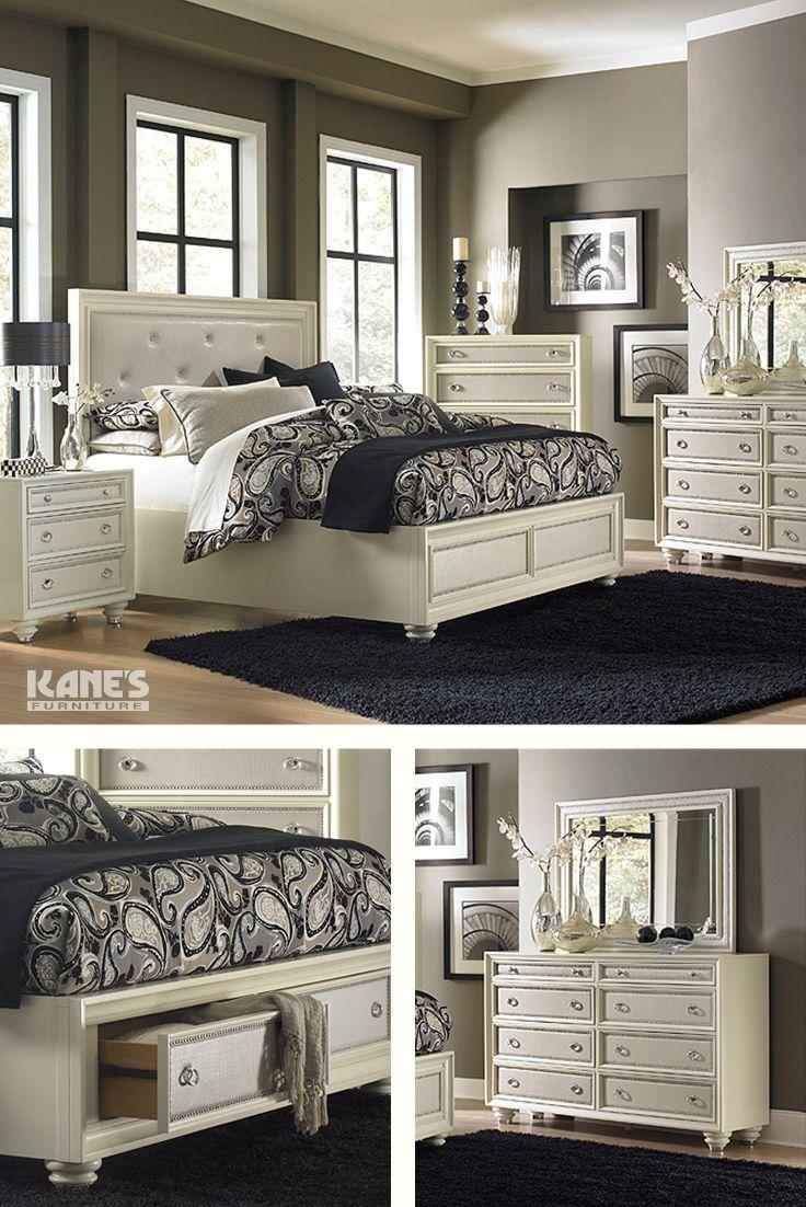 The Diamond Cream Bedroom set combines designer styling