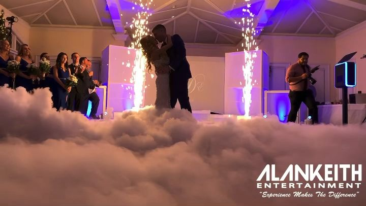 Congratulations Eve & William on your romantic castle wedding. From grand entrance to first dance, simply amazing! @lmaoeve @whitbycastle . . . . .  #alankeithentertainment #Castlewedding #weddingdj #njwedding #ryeny #nyweddingdj #romanticfirstdance #bridalparty #indoorsparklers #coldsparklers #cloudsfirstdance #indoorsparklers #weddingsparklers #danceonclouds #romanticweddings #weddingcenterpiece #romanticfirstdance #weddingcake #indoorfireworks #nygiants #wwe #nygiants