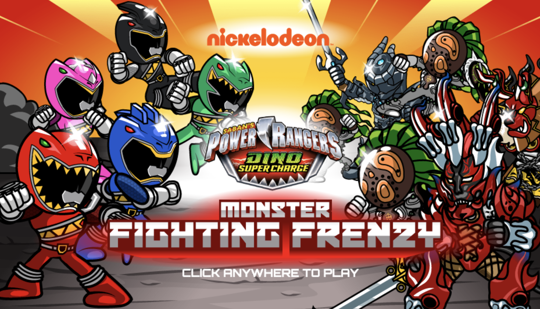 Play Power Rangers Monster Fighting Frenzy Game in