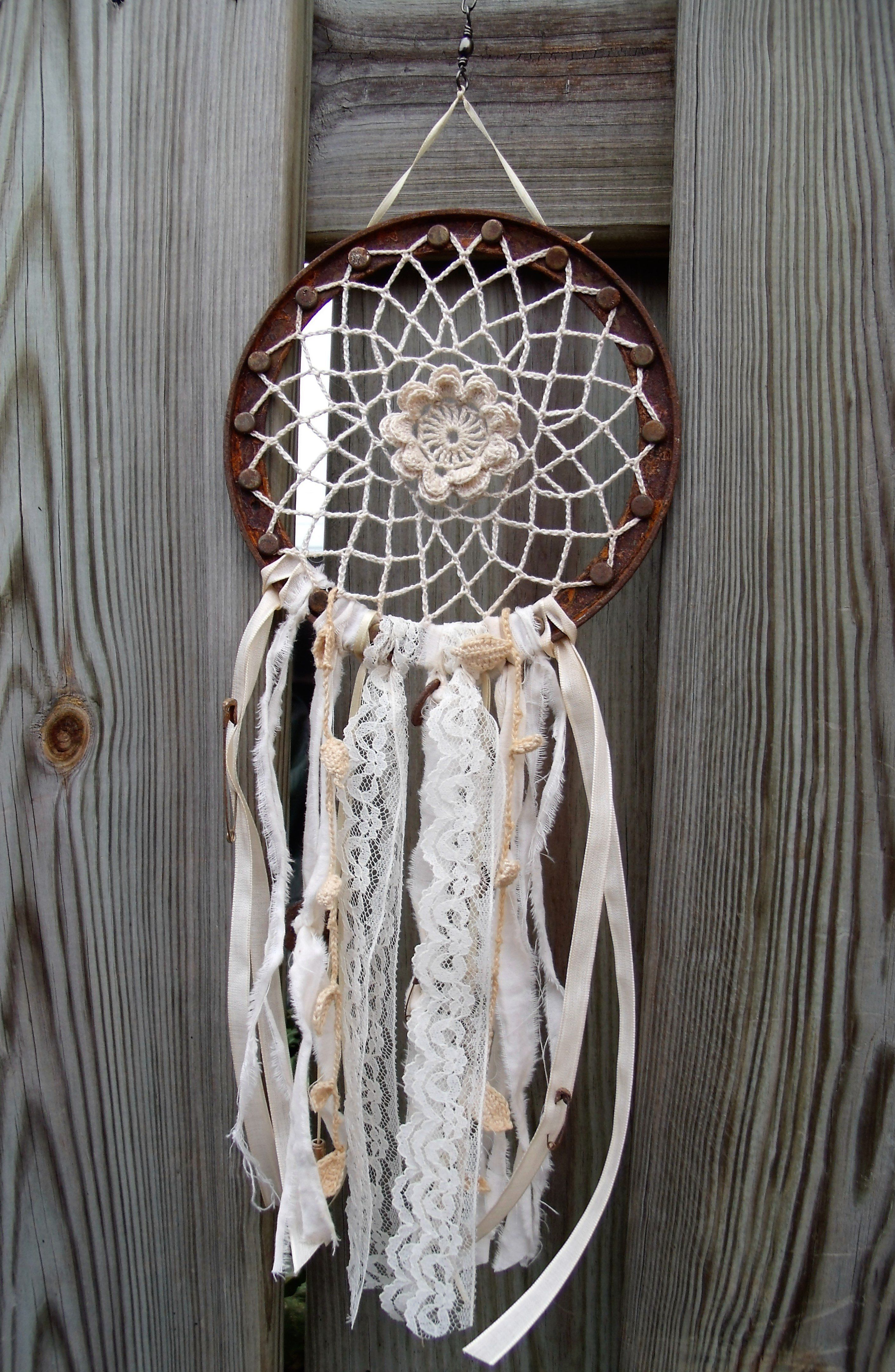Recycled Coffee Can Rims Into Dream Catchers Rusted Metal Dream Catcher Recycling