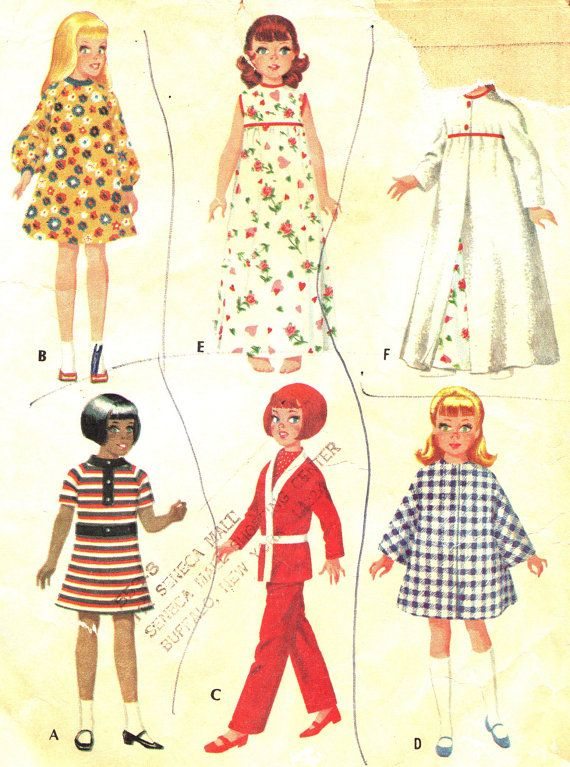Vintage Sewing Pattern 1960s McCall's 2812 Doll by paneenjerez, $5.00