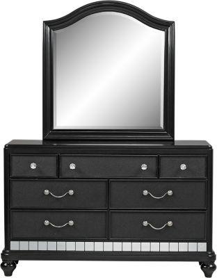 Sofia Vergara Pe Paris Black Dresser Mirror Set