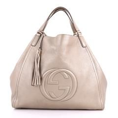 5739ac0167a2 Gucci Soho Shoulder Bag Leather Large Gold 3644501 | rebag ...