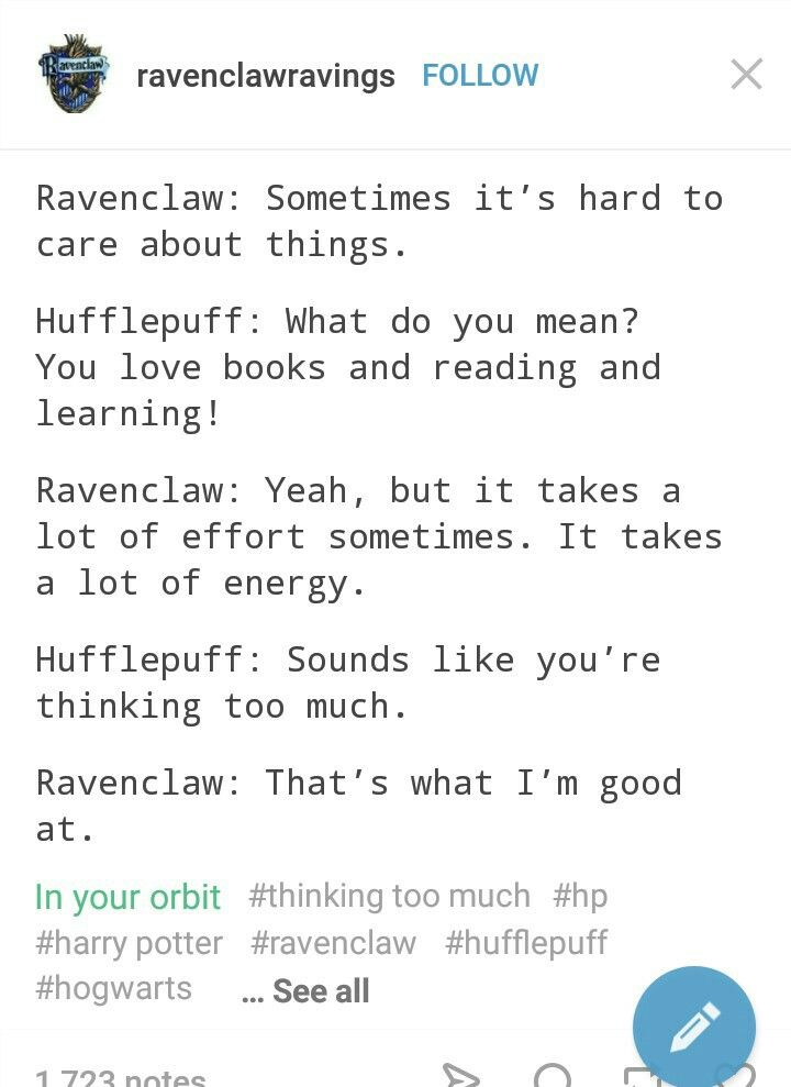 Ravenclaw Through And Through Harry Potter Universal Harry Potter Headcannons Harry Potter Funny