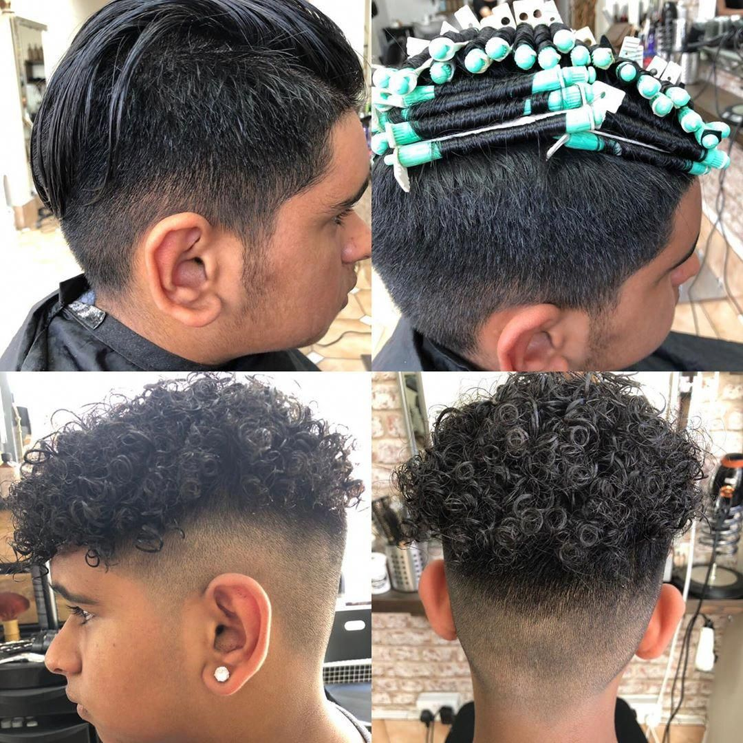 Short Hair Half Head Perm On Man Permed Hairstyles Short Permed Hair Boy Hairstyles