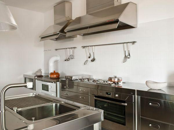 cucina alpes inox piano lavoro | Edelstahlmoebel | Pinterest | Cucina