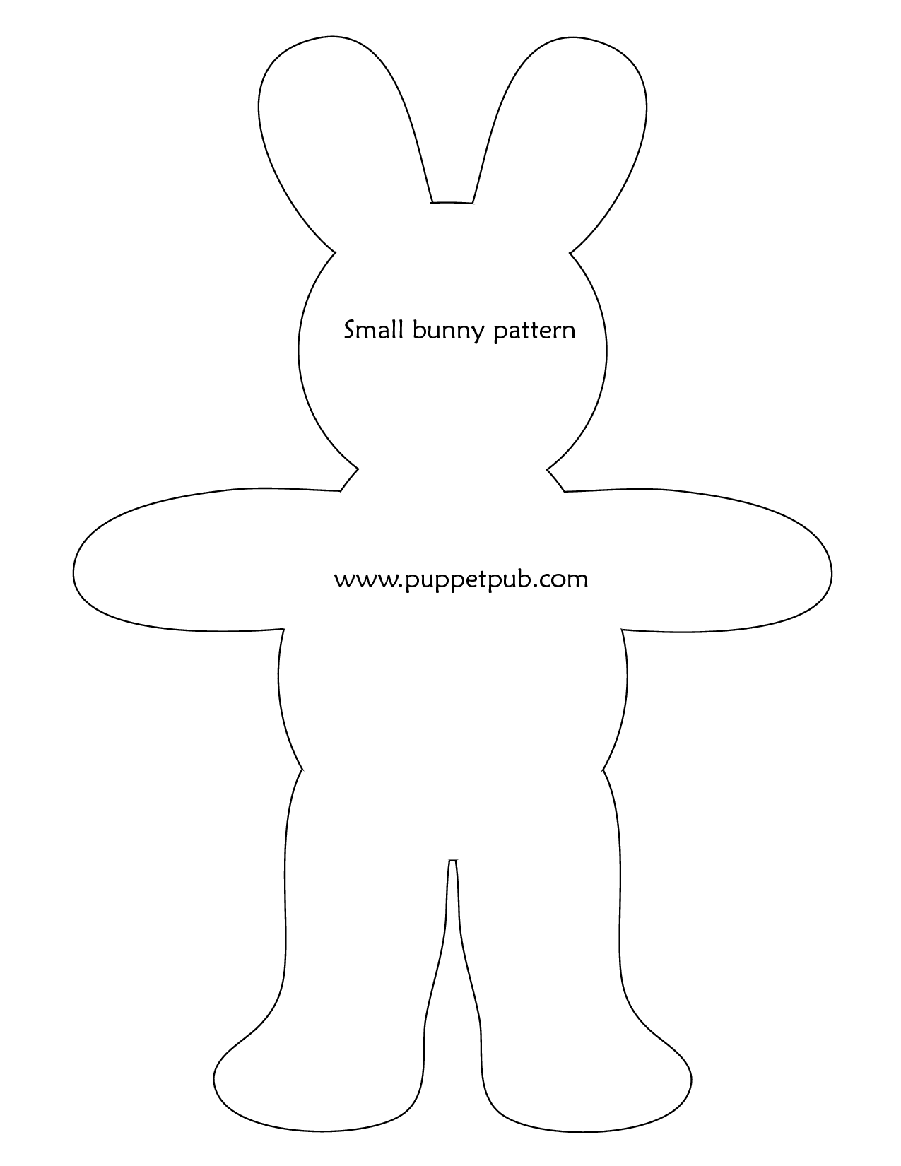 graphic regarding Easter Bunny Templates Printable Free titled easter rabbit template no cost -