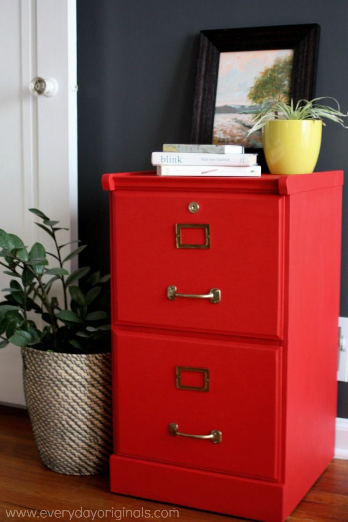 Painted Furniture Inspiration | Filing cabinet, Painted ...