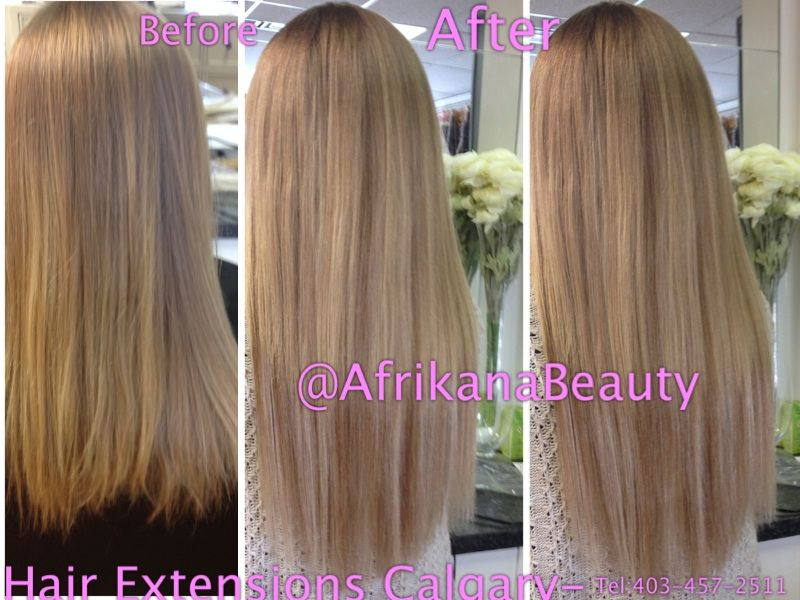 Beforeafter Clip In Extensions At The Hair Extensions Shop In