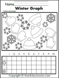free winter graphing worksheet fun for preschool kindergarten and 1st grade snowman button. Black Bedroom Furniture Sets. Home Design Ideas