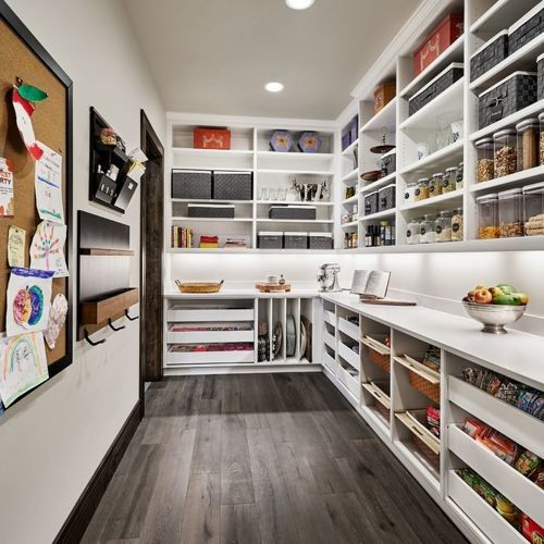 A Functional Prep Kitchen And Pantry All That S Missing Is A Sink And Small Counter Toaster Oven Pantry Decor Pantry Room Pantry Design