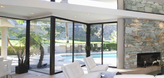 Full height aluminium windows Slate wall house ideas Pinterest