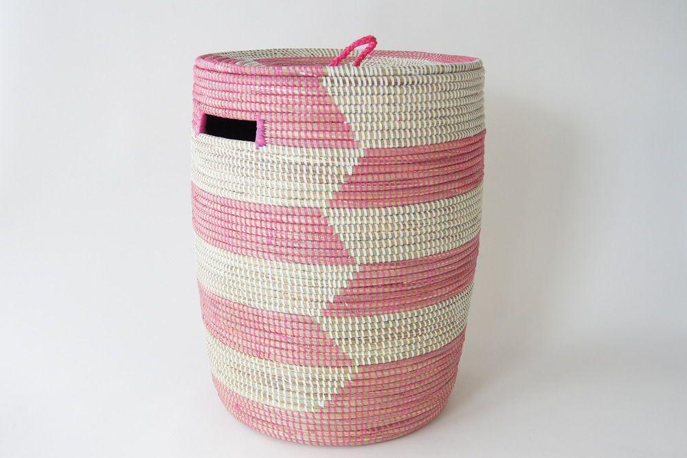 Anthropologie Pintowin Woven Laundry Basket Woven Hamper