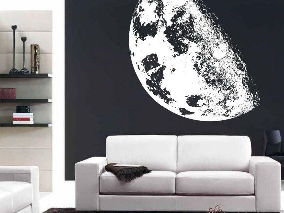 Full Moon Realistic Extra Large Wall Mural Decal Vinyl Art Large Wall Murals Large Wall Stickers Crib Wall
