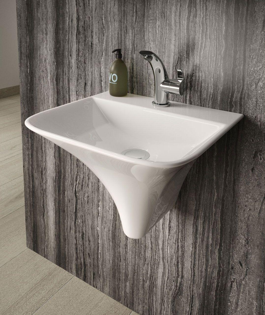 Hudson Reed Grace Wall Hung Basin Nct102 Wall Mounted Bathroom Sinks Modern Basin Hudson Reed [ 1280 x 1078 Pixel ]