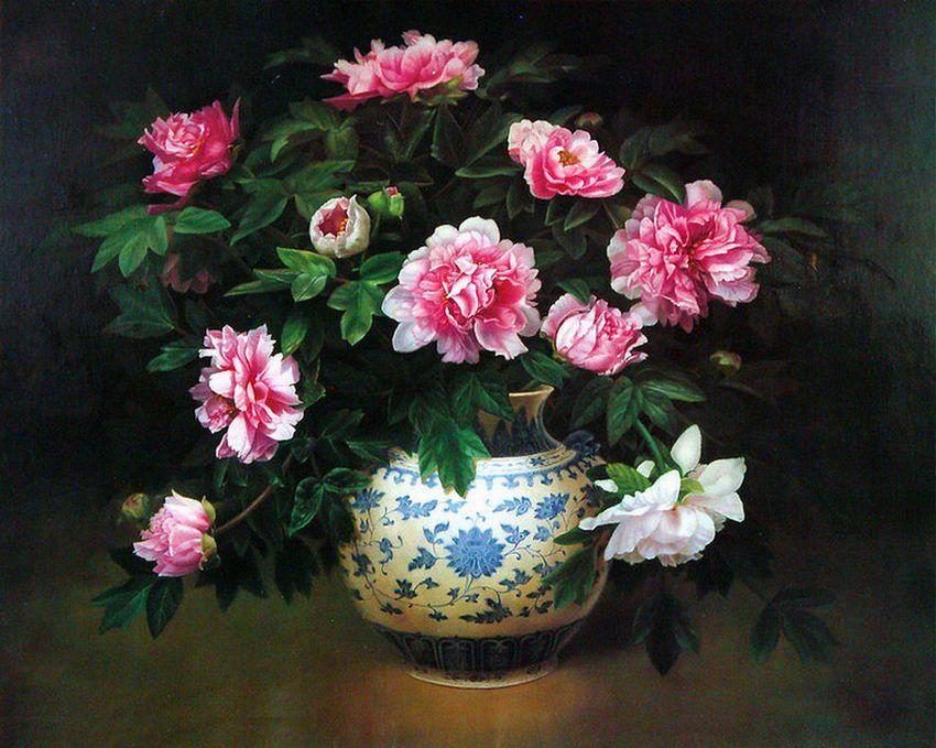 Цветочные натюрморты Lu Dong Ming. Обсуждение на ...