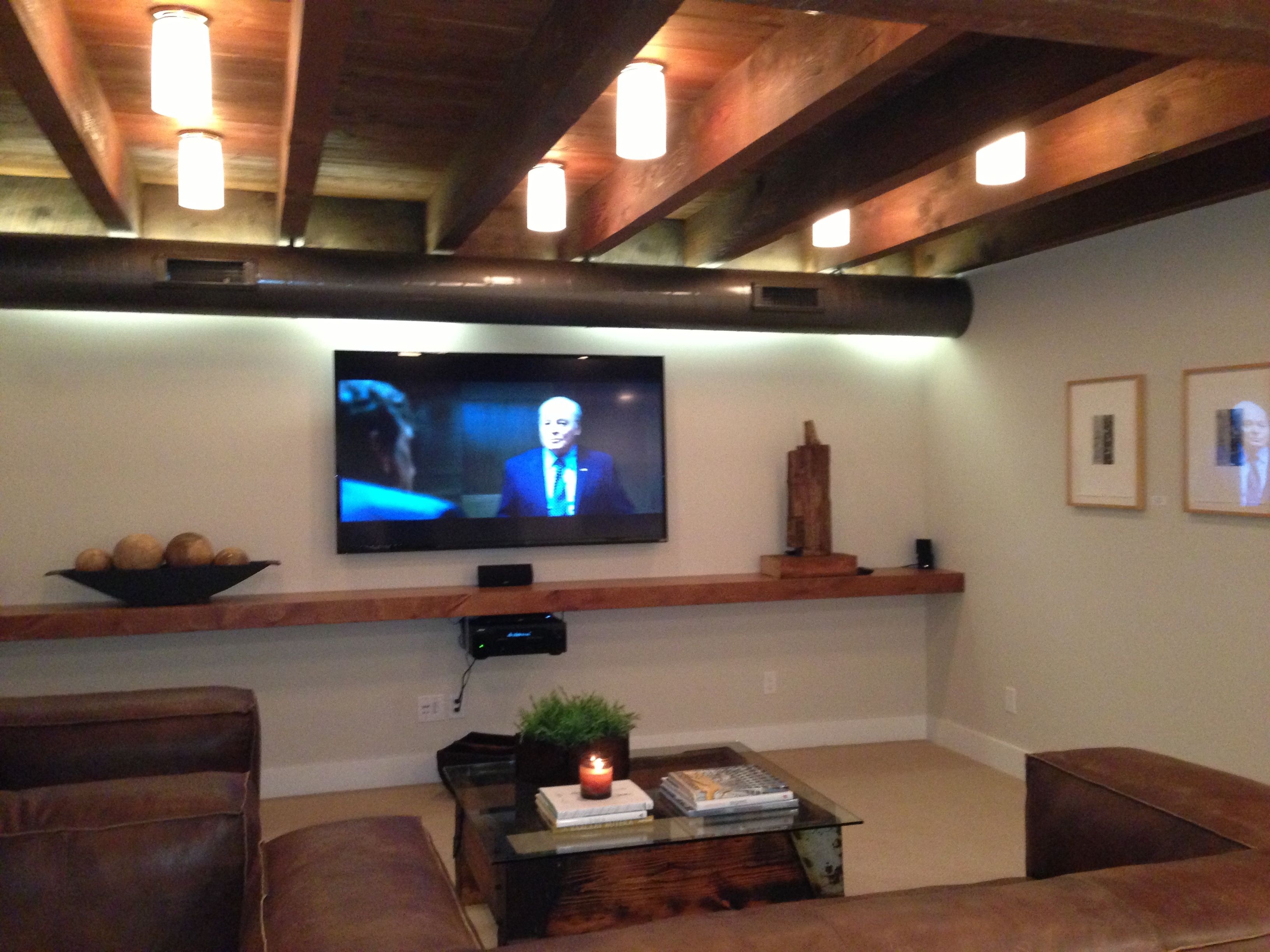 Delightful Basement Lighting Part - 1: 20 Stunning Basement Ceiling Ideas Are Completely Overrated