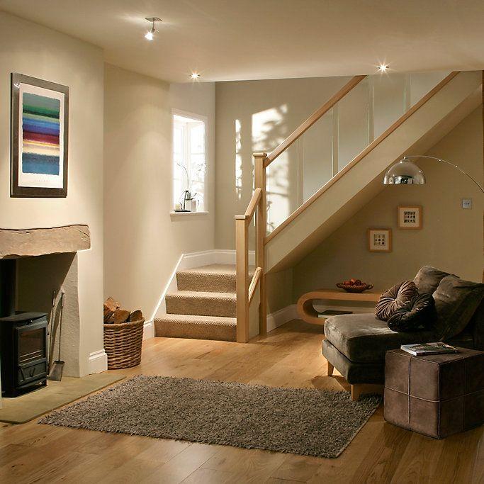 Glass Staircase Balustrade Kit: Reflections Oak Handrail (L)4200