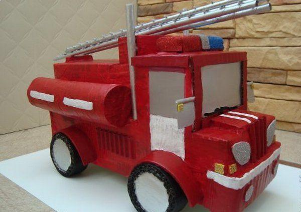 Пожарная машина сделать своими руками 938