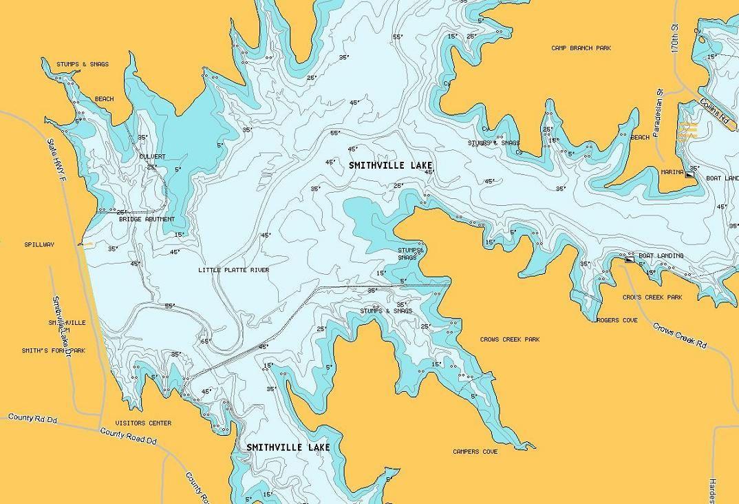 Smithville Lake Map smithville lake fishing map | Thread: Looking for Lake temp info  Smithville Lake Map