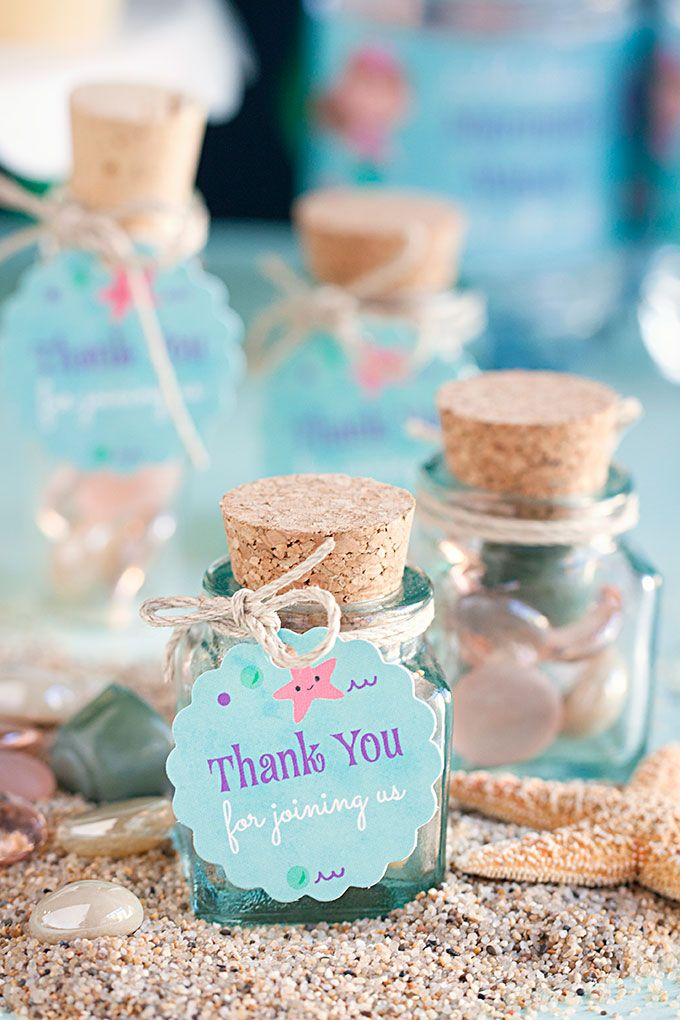 3 Diy Mermaid Party Favor Ideas Birthday Party Ideas Mermaid