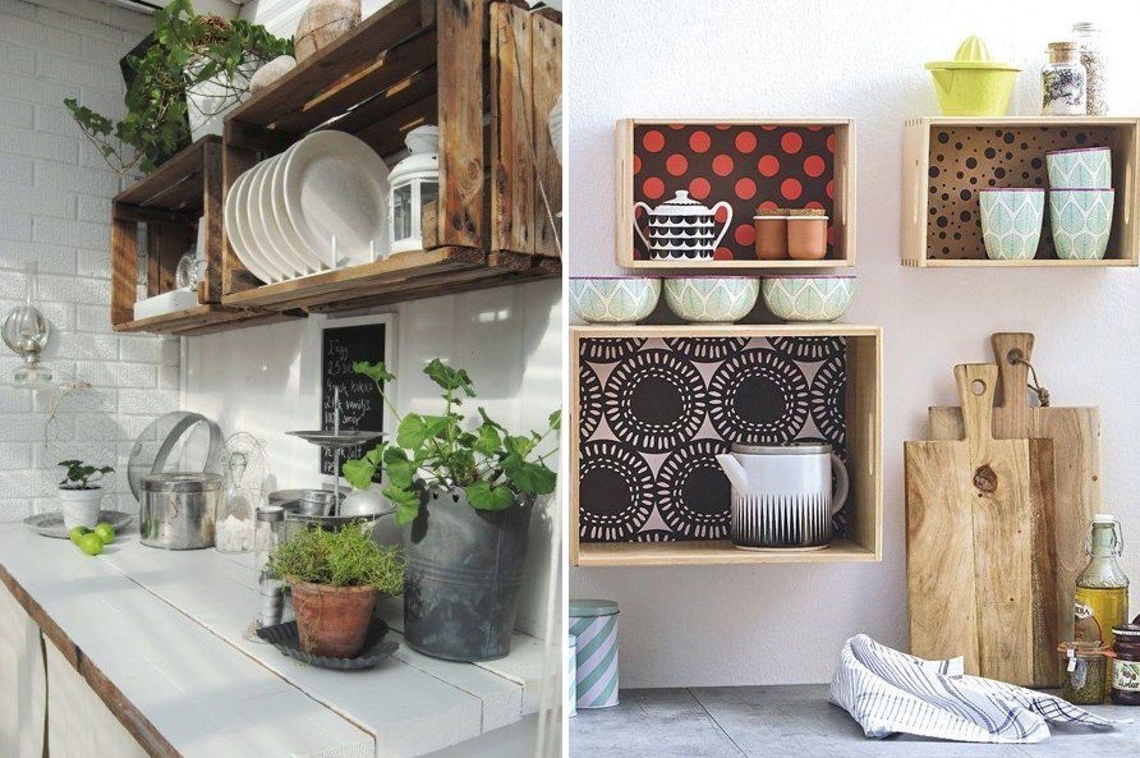 cajas de madera para la cocina