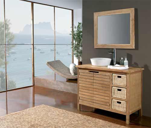 muebles de ba o r sticos baratos muebles de ba o pinterest On banos rusticos economicos