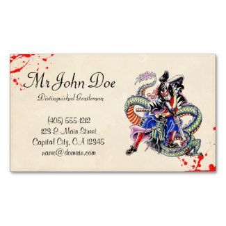 Cool blood japanese dragon samurai fight tattoo business card cool blood japanese dragon samurai fight tattoo business card templates blood splattered vintage fbccfo Gallery