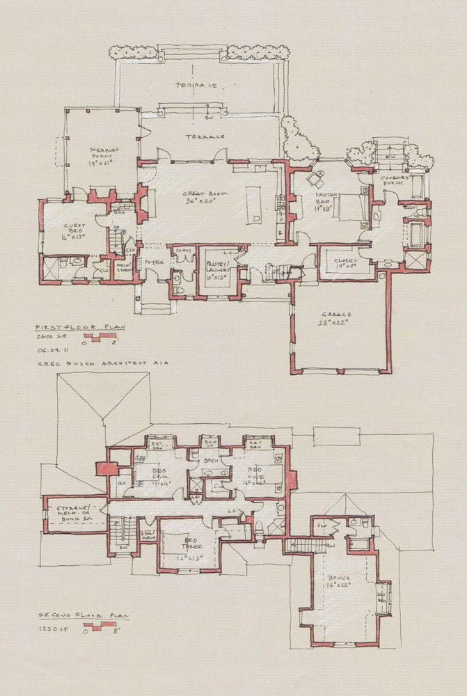 Process Architectural Floor Plans Vintage House Plans Floor Plan Drawing