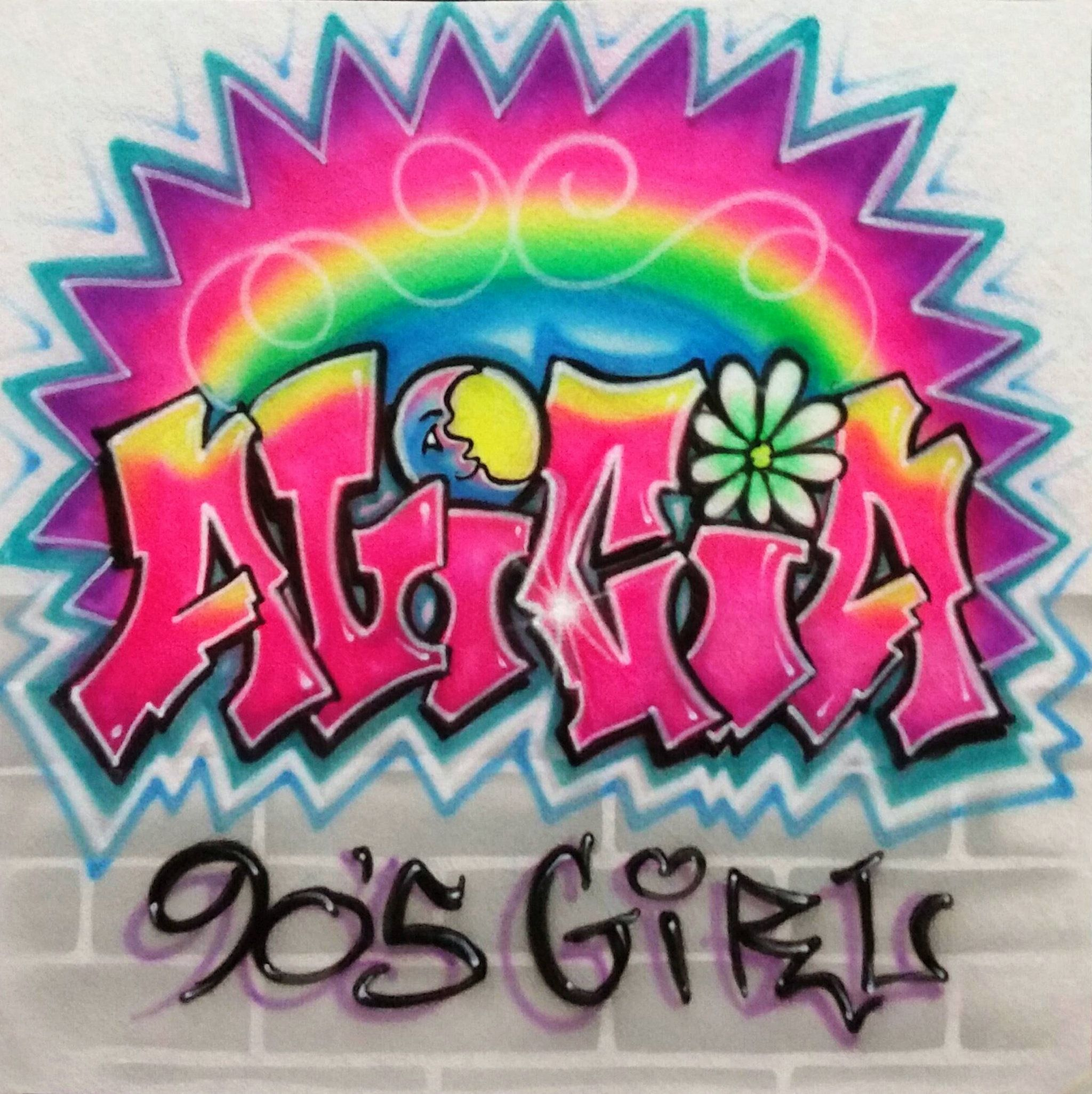 Excited to share the latest addition to my etsy shop airbrush graffiti name 90s