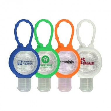1oz Hand Sanitizer With Flip Top Cap Inside A Silicone Case